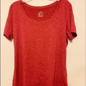 Red Nike Dri-Fit Woman's T-shirt
